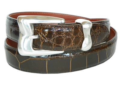 Alligator Belt 1 3/16 with Malibu Buckle Set