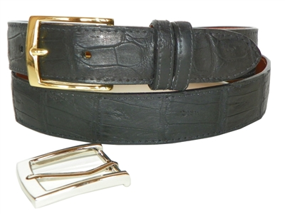 Crocodile Belt 1 3/16 with 2 Classic Buckles
