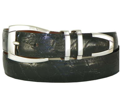 Sterling Silver Sierra Vista Buckle on Alligator Belt
